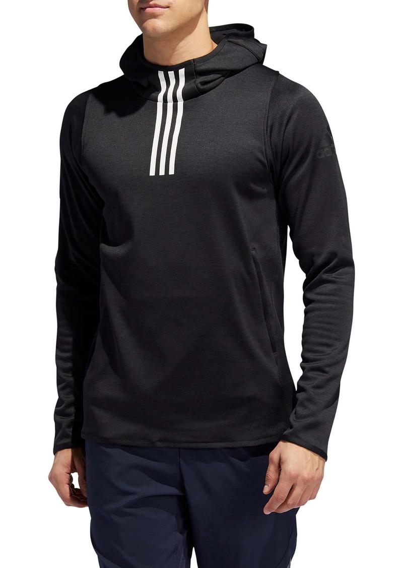 adidas Warm 3-Stripes Fleece Pullover Hoodie
