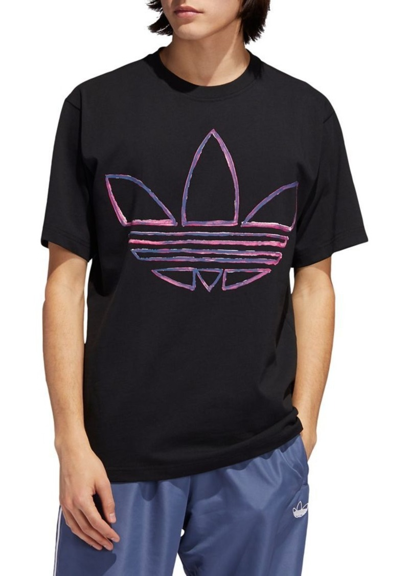 Adidas Originals Watercolor Logo Cotton Tee