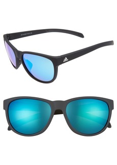 adidas Wildcharge 57mm Mirrored Sunglasses