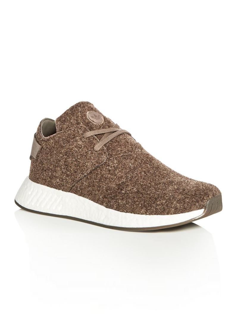 innovative design 40afe ea2eb Adidas Wings and Horns Mens NMD C2 Chukka Felt Lace Up Sneakers