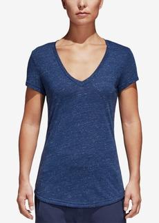 adidas Winners Melange V-Neck T-Shirt