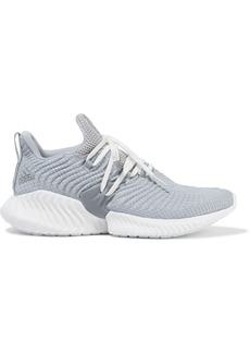 Adidas Woman Alphabounce Instinct Stretch-knit Sneakers Light Gray