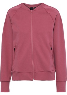 Adidas Woman Appliquéd Jersey Track Jacket Bubblegum