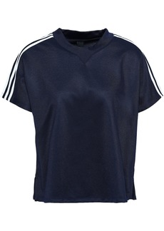 Adidas Woman Atteetude Striped Fleece T-shirt Navy