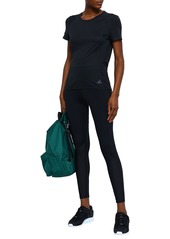 Adidas Woman Cropped Perforated Stretch Leggings Black