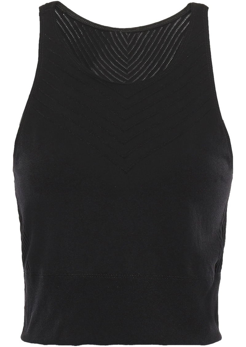 Adidas Woman Cropped Stretch Top Black