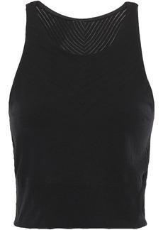 Adidas Woman Cropped Stretch Top Black