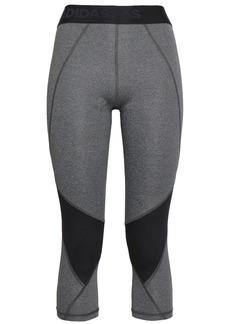 Adidas Woman Cropped Two-tone Stretch Leggings Dark Gray