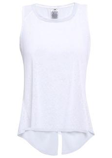 Adidas Woman Split-back Slub Jersey Tank White