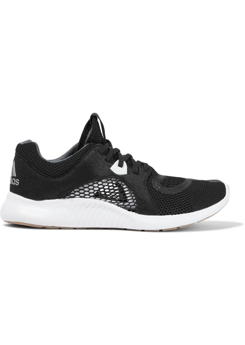 Adidas Woman Edgebounce Clima Neoprene-paneled Mesh Sneakers Black