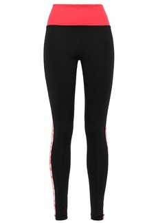 Adidas Woman Floral-print Stretch Leggings Black