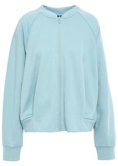 Adidas Woman Id Glory Printed Jersey Track Jacket Sky Blue