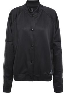 Adidas Woman Mesh-paneled Jersey Jacket Black