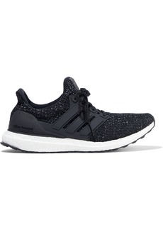Adidas Woman Mélange Stretch-knit Sneakers Black