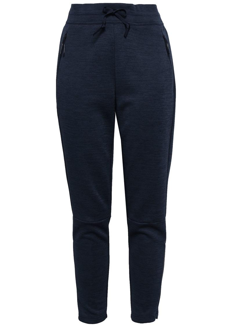 Adidas Woman Mélange Tech-jersey Track Pants Midnight Blue