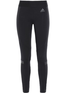 Adidas Woman Printed Stretch-cotton Jersey Leggings Black