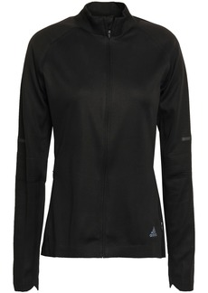 Adidas Woman Reflective-trimmed Tech-jersey Track Jacket Black