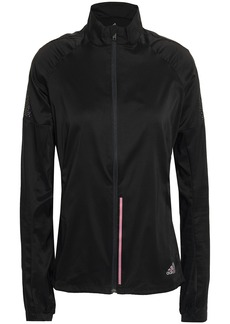 Adidas Woman Reflective-trimmed Tech-jersey Track Jacket Black