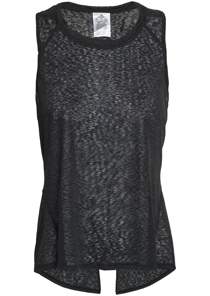 Adidas Woman Slub Jersey Tank Black