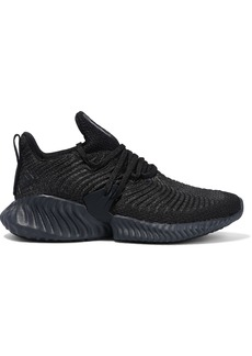 Adidas Woman Alphabounce Instinct Knitted Sneakers Black
