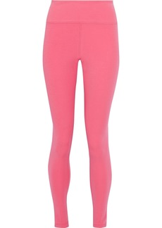 Adidas Woman Stretch-jersey Leggings Pink