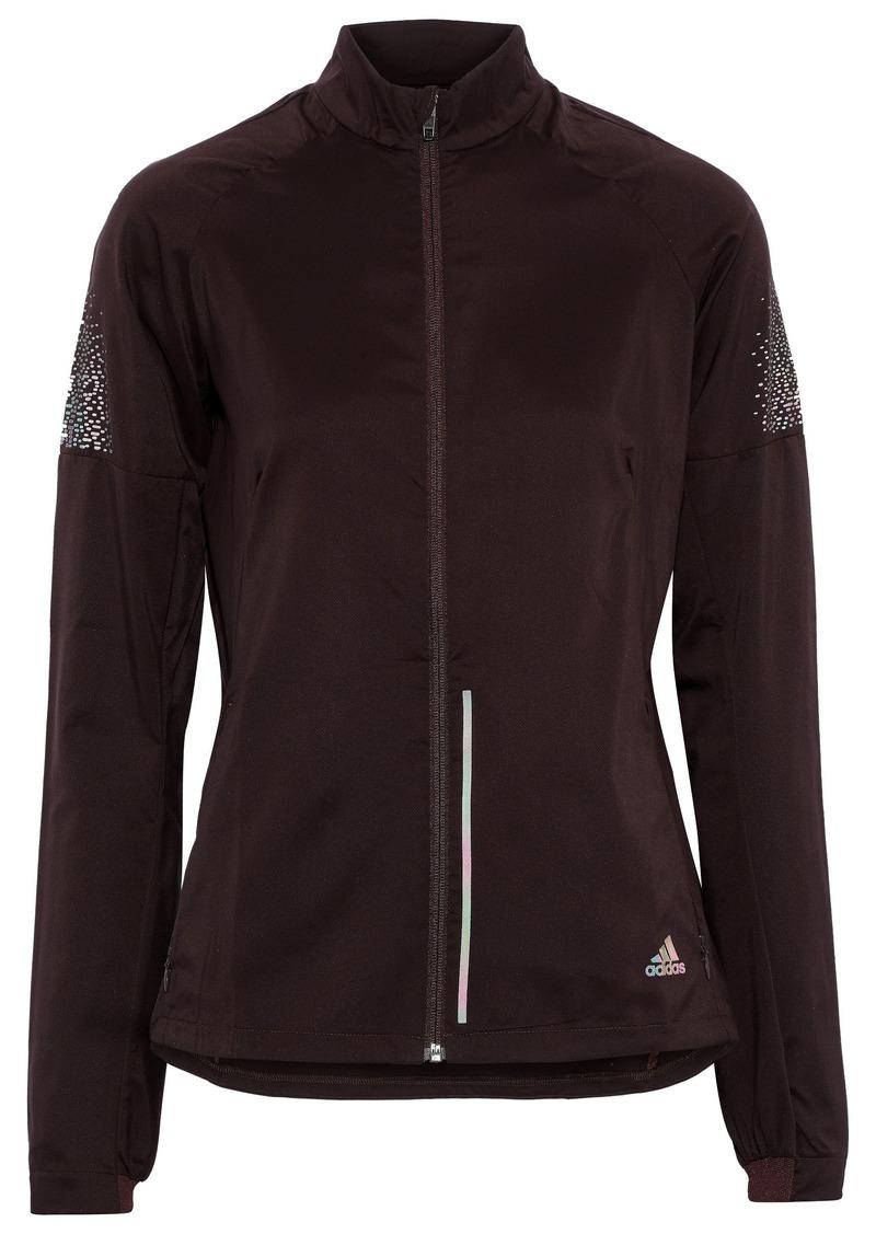 Adidas Woman Supernova Printed Shell Track Jacket Merlot