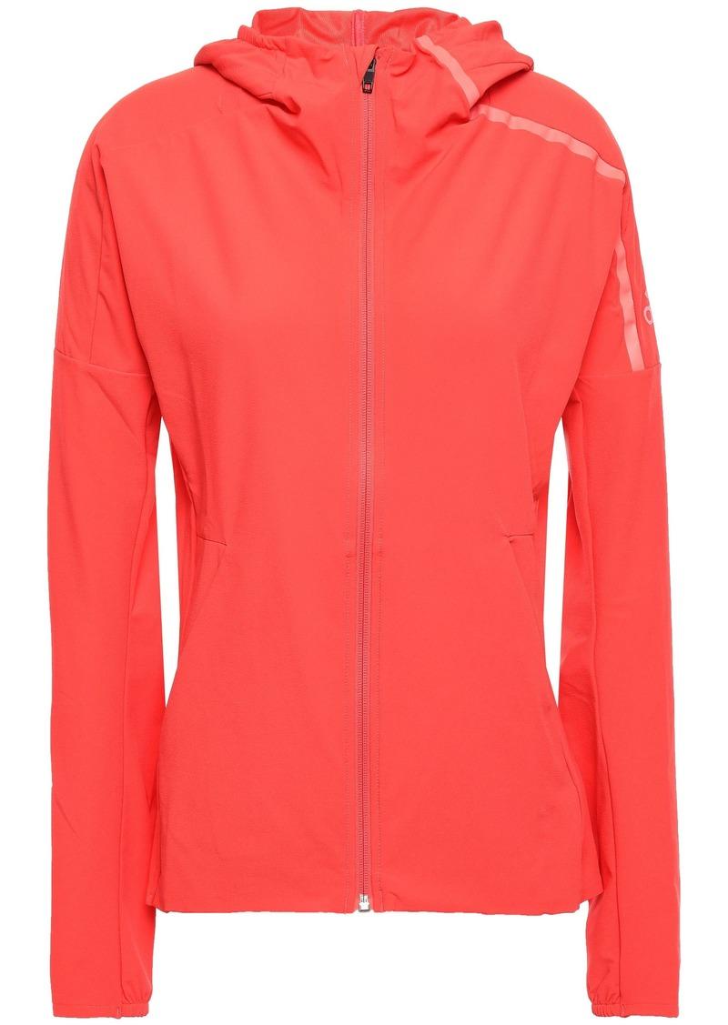 Adidas Woman Tech-jersey Hooded Track Jacket Papaya