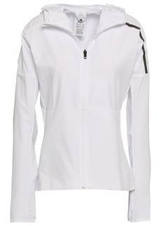 Adidas Woman Tech-jersey Hooded Track Jacket White