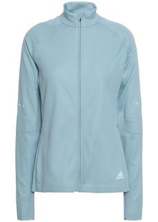 Adidas Woman Tech-jersey Track Jacket Light Blue