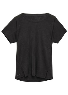 Adidas Woman Textured-jersey T-shirt Black