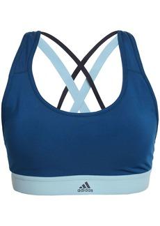 Adidas Woman Two-tone Stretch Sports Bra Petrol