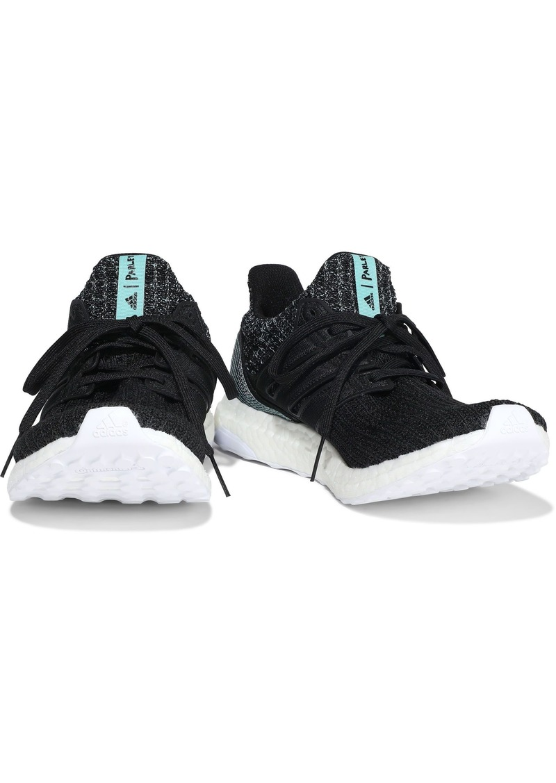 Adidas Woman Ultraboost Parley Marled Stretch-knit Sneakers Black