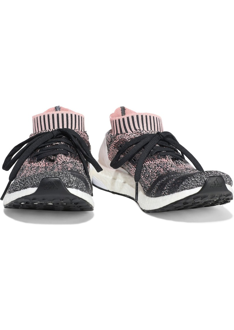 Adidas Woman Ultraboost Uncaged Coated Marled Stretch-knit Sneakers Baby Pink