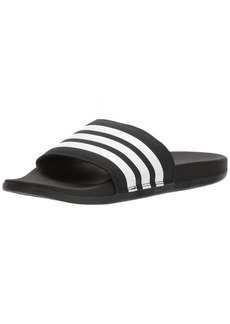 adidas Women's Adilette Cloudfoam+ Slide Sandal White/Black  M US