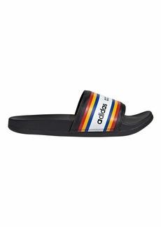 adidas Women's Adilette Comfort Slide Sandal Black/Active Gold