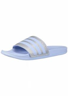 adidas Women's Adilette Comfort Slide Sandal Glow Blue  M US