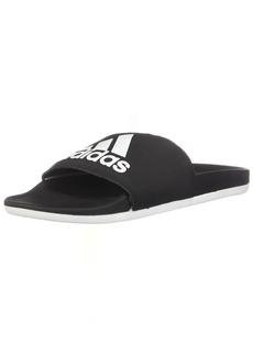 adidas Women's Adilette Comfort Slide Sandal White/Black  M US