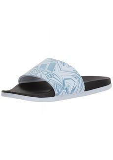 adidas Women's Adilette Comfort Sport Sandal ash aero Blue/Black  M US