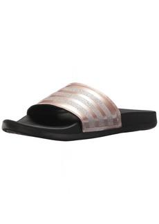 adidas Women's Adilette Comfort Sport Sandal Vapour Grey Metallic/Black  M US