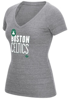 adidas Women's Boston Celtics Stretched Type T-Shirt