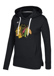 adidas Women's Chicago Blackhawks Logo Shine Hooded Sweatshirt