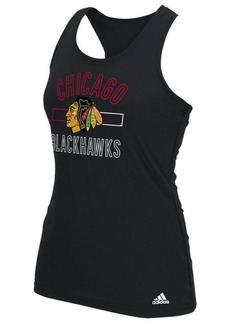 adidas Women's Chicago Blackhawks Stack Box Tank Top