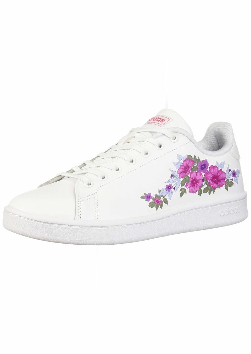 adidas Women's Cloudfoam Advantage Cl Sneaker White/Real Pink  M US