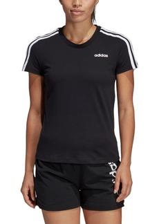 adidas Women's Cotton Slim 3-Stripe T-Shirt