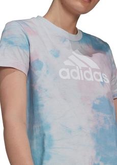 adidas Women's Cotton Tie-Dyed T-Shirt Dress