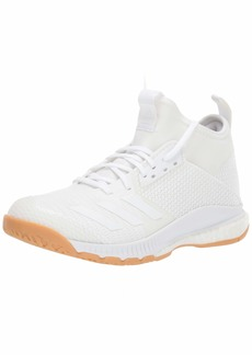 adidas Women's Crazyflight X 3 Mid Volleyball Shoe White/Gum  M US