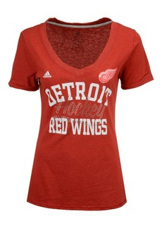 adidas Women's Detroit Red Wings Hockey Shine T-Shirt