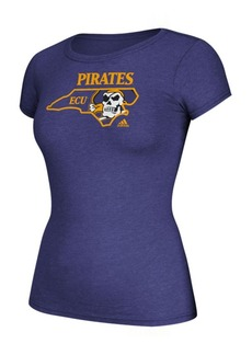 adidas Women's East Carolina Pirates Clipped State T-Shirt