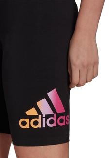 adidas Women's Essentials Gradient-Logo Bike Shorts