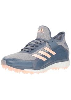 adidas Women's Fabela X Volleyball Shoe raw Steel/Clear Orange/Grey  M US